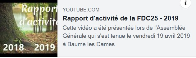 Vidéo Rapport d'Activité 2018/2019